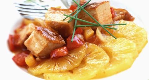 maiale in agrodolce.maiale in agrodolce ricetta,filetto di maiale,ricetta maiale alla cinese,fieltto maiale in salsa agrodolce